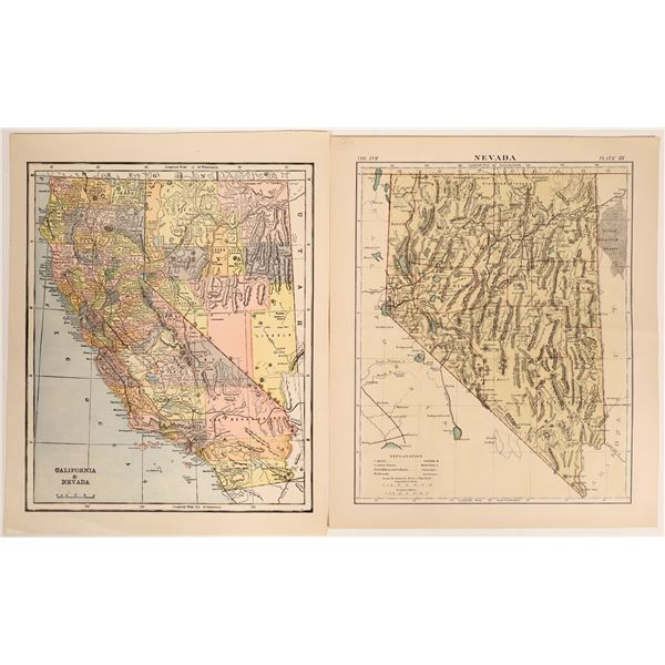 Two Maps of Nevada and California  [132957]