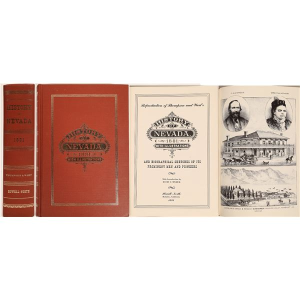 Thompson and West's History of Nevada (Reprint)  [132412]