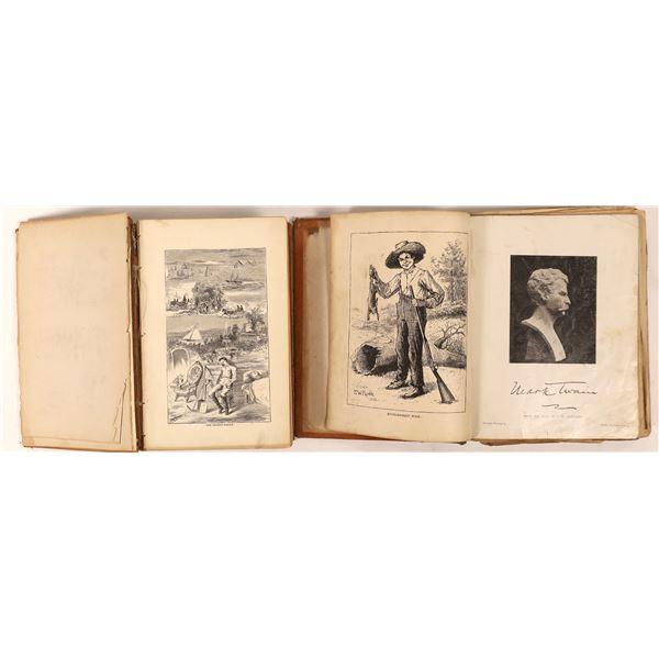 Mark Twain Classics: Roughing It 1st Edition and Huckleberry Finn  [130075]