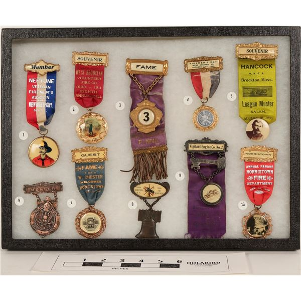 Fire Dept. Conv. Ribbons for New England States (10)  [125306]