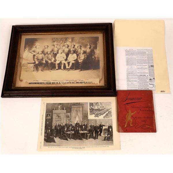 Firefighting Historical Memorabilia - Rare - Lot of 3  [122321]