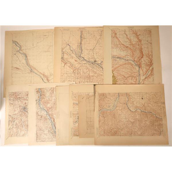 Survey Maps of Oregon & Washington Regions (9)  [110178]