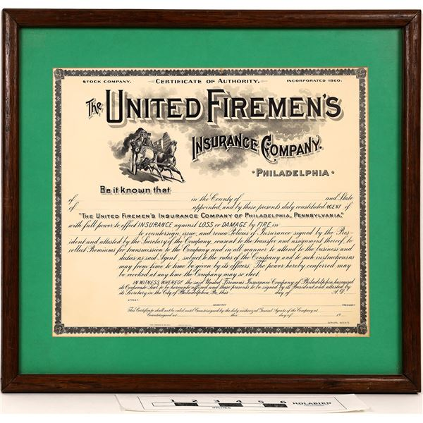 Fireman's Certificate and Letterheads - Lot of 2  [122318]