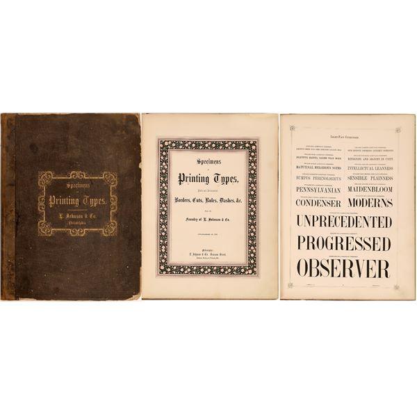 Specimens & Printing Types Rare Book  [131980]