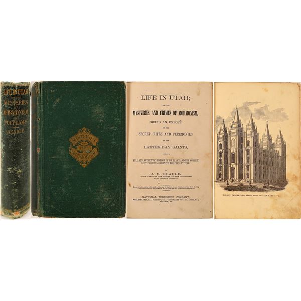 """Life in Utah"" or the ""Mysteries and Crimes of Mormonism"" – very early anti-Mormon book  [130053]"
