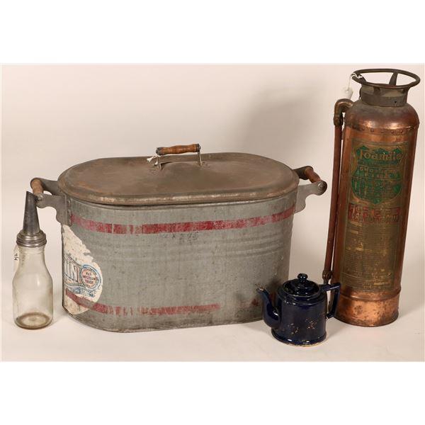 Foamite Fire Extinguisher, Martin Ware Wash Tub, bonus items  [108006]