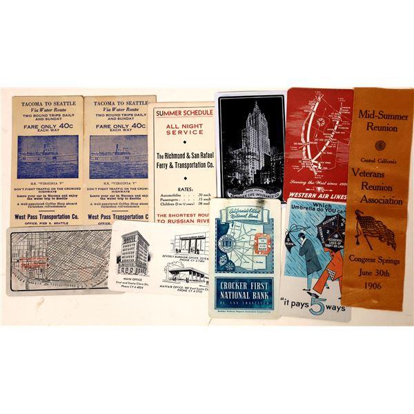 Ferry Schedules, Vet Association Ribbon, Ad Calendars  [131710]