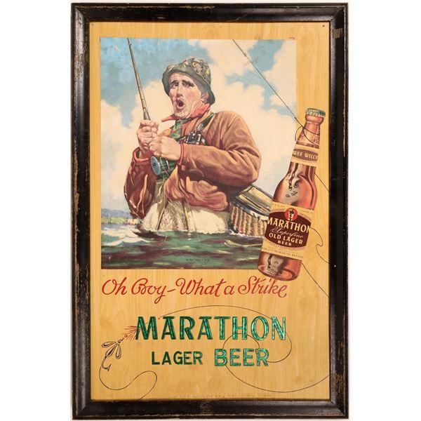 Marathon Superfine Lager Beer  Sign  [132819]