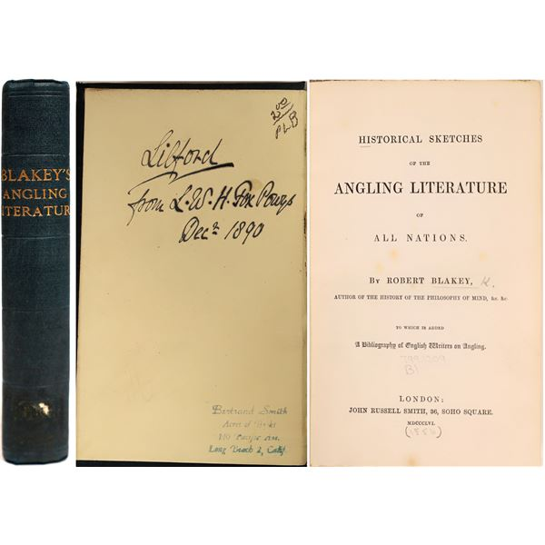 Historical Sketches of the Angling Literature of All Nations  [132825]
