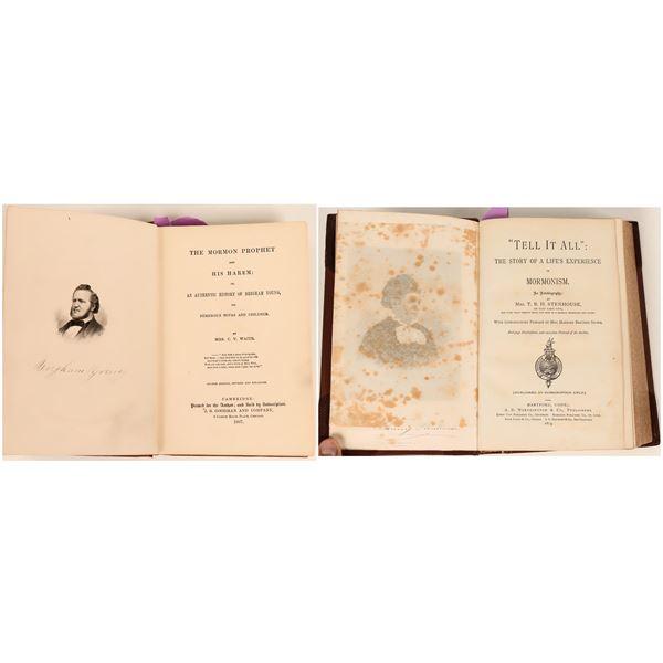 Mormon Polygamy Rare Books (2 Books)  [124492]