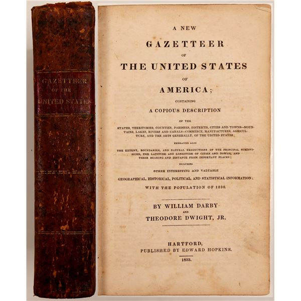 New Gazetteer of the United States by Darby & Dwight  [108487]