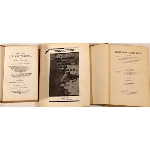 Three books on law, business, etc.  [130054]