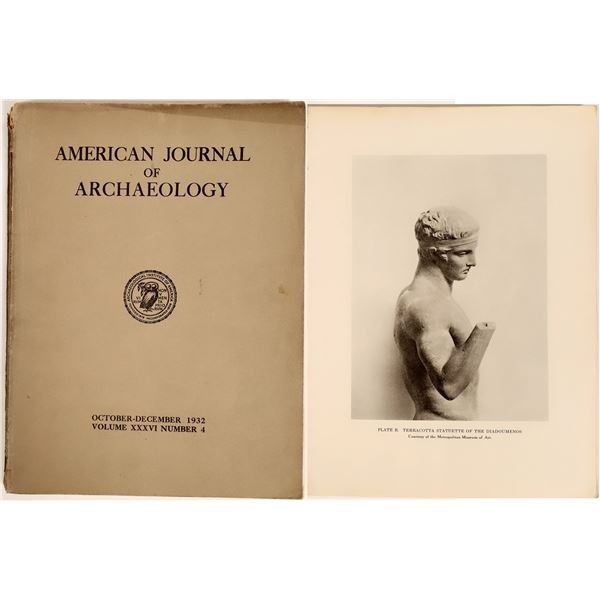 American Journal of Archaeology 1932 Vol. 36, No. 4  [126993]