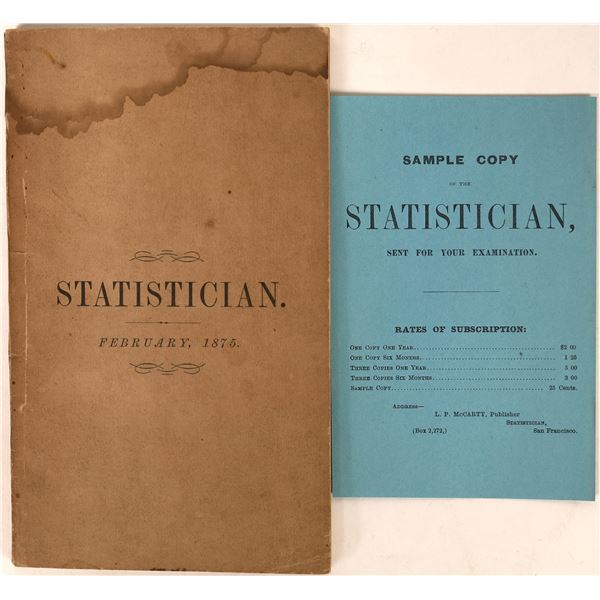 McCarty's Statistician 1875  [129921]