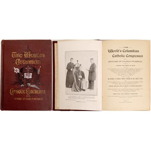 The World's Columbian Catholic Congresses a book published in 1893  [132932]