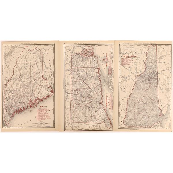 Early Rand McNally Maps for Great Lakes Region (4)  [131697]