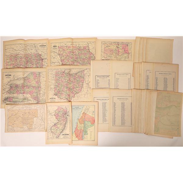 43 Circa 1890 Maps – Mostly States  [131800]