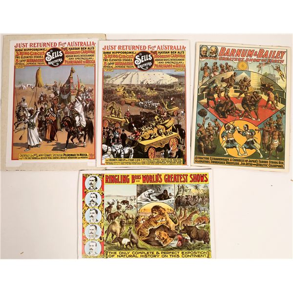 Four Vintage Circus Advertisement Reproductions  [129728]