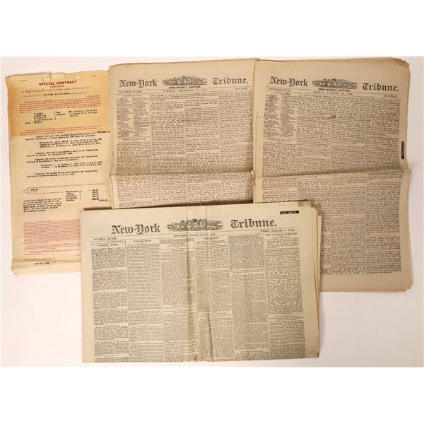 Cardiff Giant of P. T. Barnum and Newspapers about Barnum, 101 Ranch related.  [131795]