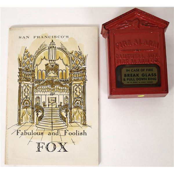 Cast Iron Fire Alarm Box, with Booklet  [135542]
