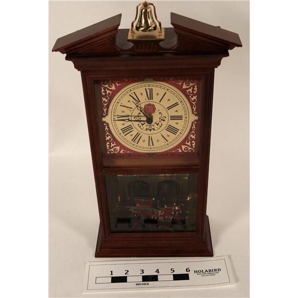 First Official Fireman's Hall Fire Engine Clock  [125328]