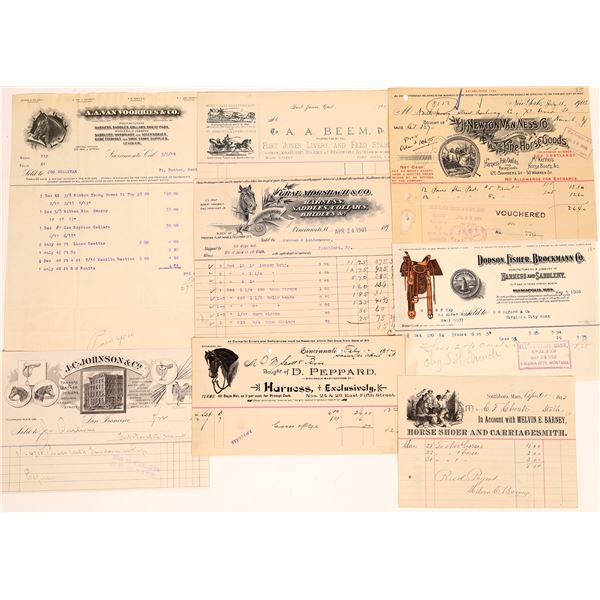 Miscellaneous Equine Bill Heads (8)  [131666]