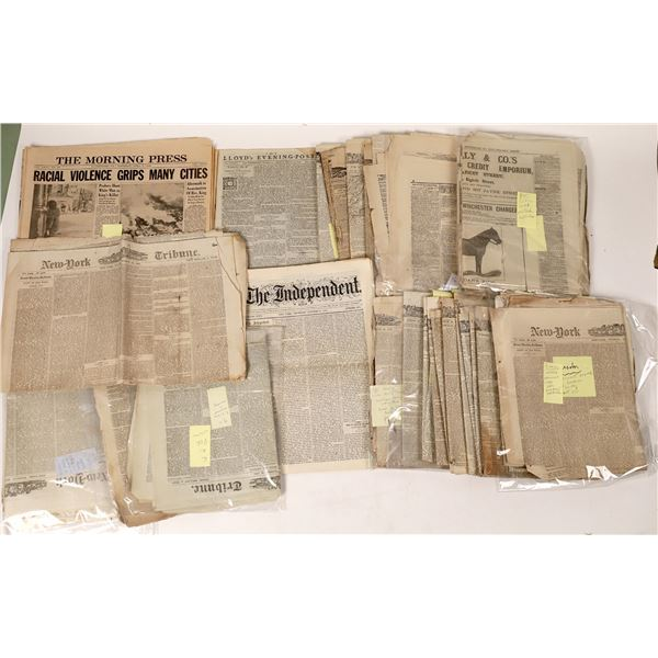 Newspaper Collection with Important Events, People and Places  [131794]