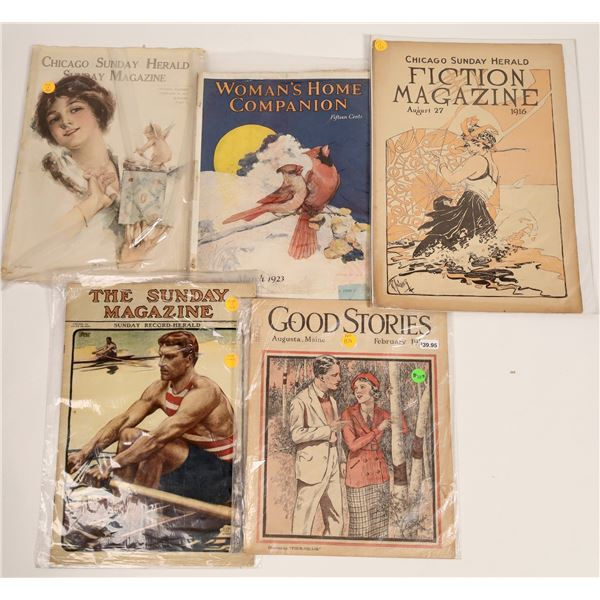 Newspaper Sunday Magazines and Supplements with Excellent Covers (5)  [129734]