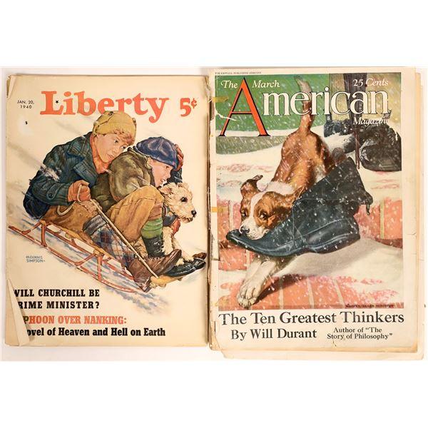 Pre-Depression/WWII: American Magazine 1927, Liberty Magazine 1940  [126997]