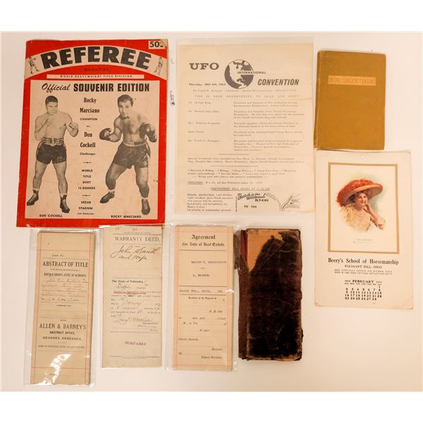 Rocky Marciano, Land titles , UFO's and Wallet  [129934]
