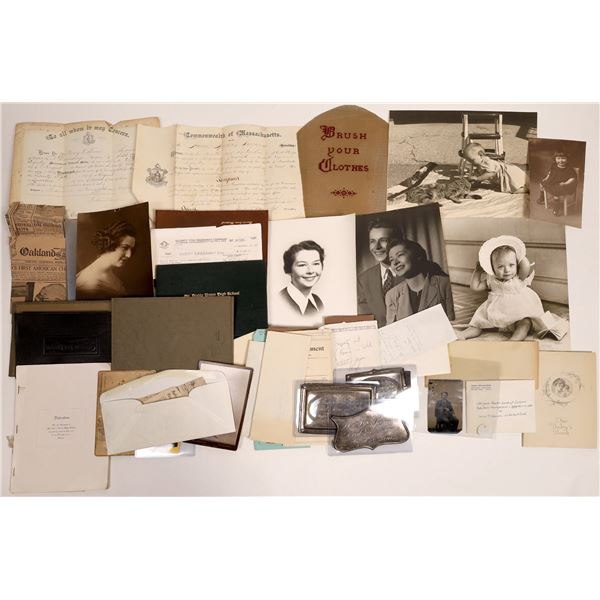 Spencer Family Archive, Massachusetts to California  [132985]