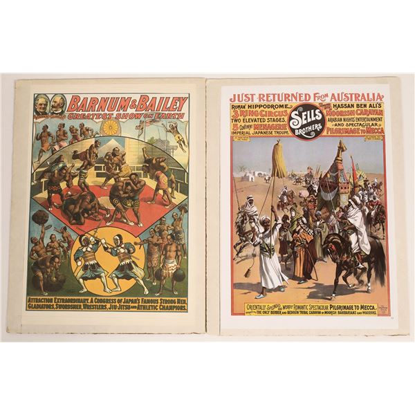 Two Vintage Circus Poster Reproductions  [129729]