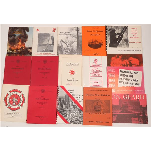 US Fire Dept. Annual Reports (16)  [135548]