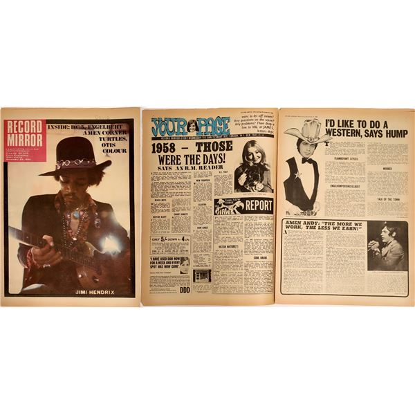 Record Mirror Magazine Feat. Jimi Hendrix  [133821]