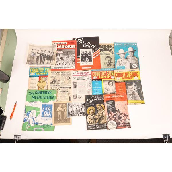 Magazines  of Cowboy/ Sheet Music  [129889]