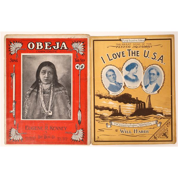 Two Rare Sheet Music Pieces: Native American and World War I  [131796]