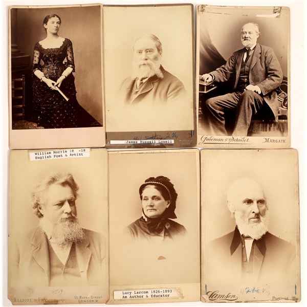 Cabinet Cards for American and English Novelists and Poets  [132499]