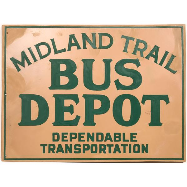 Midland Trail Bus Depot Metal Sign  [132991]