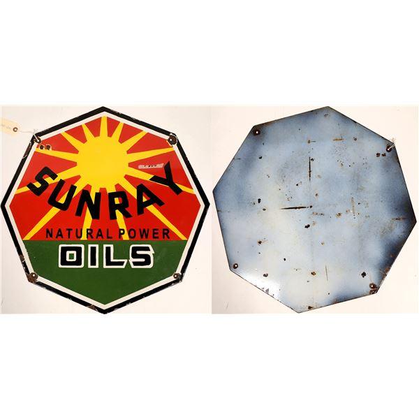 Sunray Natural Power Oils Metal Sign  [132990]