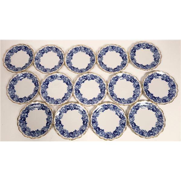 "Schumann ""Heirloom"" Blue Pattern Plates  [132338]"