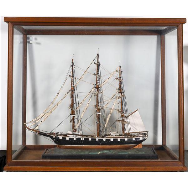 Clipper Ship Model in Glass Display Case  [132242]