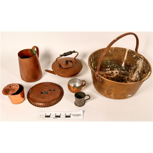 Copper and Brass Pots, Pitchers, and Cups [7]  [108744]