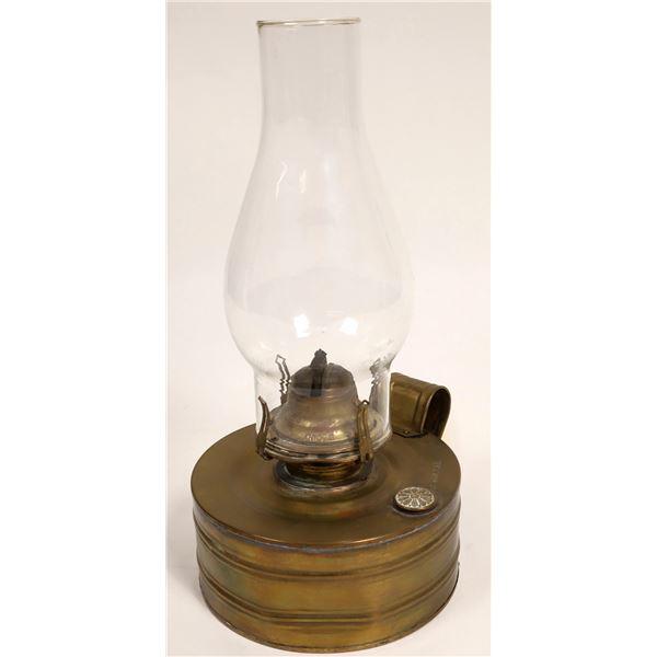 Brass Kerosene Lamp, Patent Date 1893  [132510]