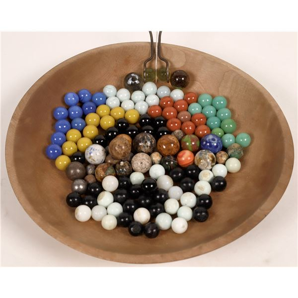 Miscellaneous Marble Items - Razor Sharpener, Benningtons, Ballot Marbles, Steelies, Chinese Checker