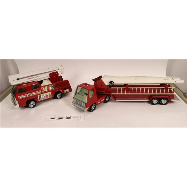 Tonka & Nylint Toy Fire Trucks (Lot of 4)  [125300]