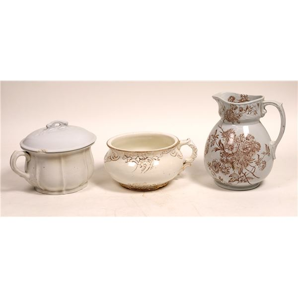 Chamber Pots & Water Pitcher Trio  [131585]