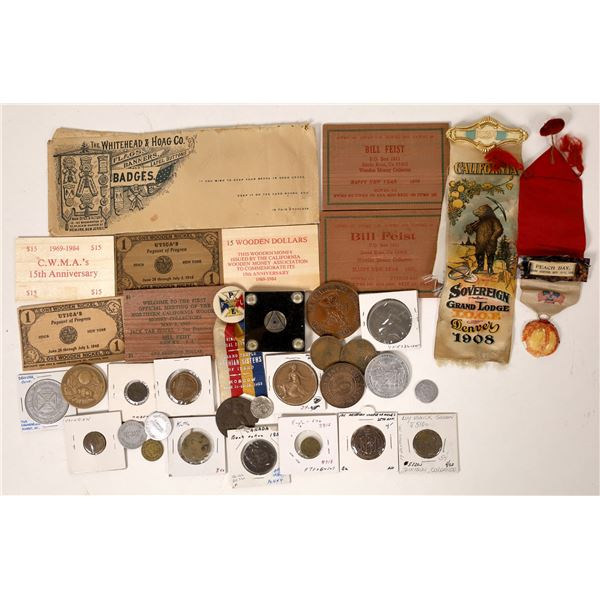 Tokens, Ribbons & Wooden Nickels  [131711]