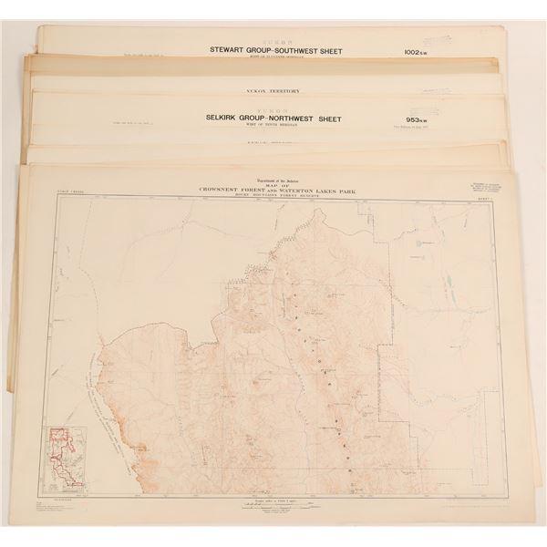 Maps of British Columbia, Alberta, and Yukon Territory  [117836]