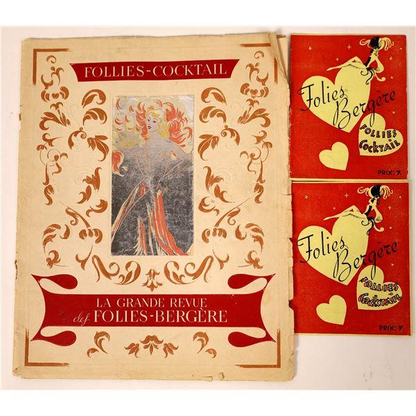 """Folies Bergere, Follies Cocktail, """"La Grande Revue Booklet  [130098]"""