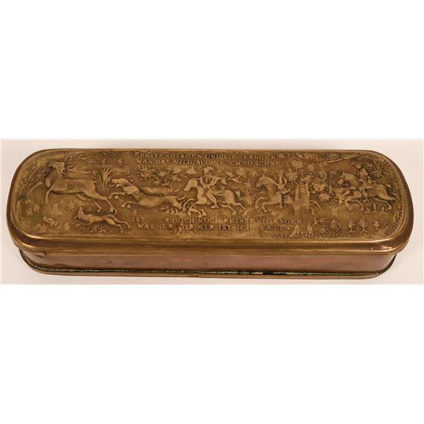 German Brass and Copper Tobacco Box  [119196]